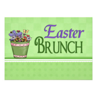 Easter Brunch Spring Flowers Announcement