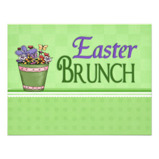 Easter Brunch Spring Flowers Note Size Personalized Invite