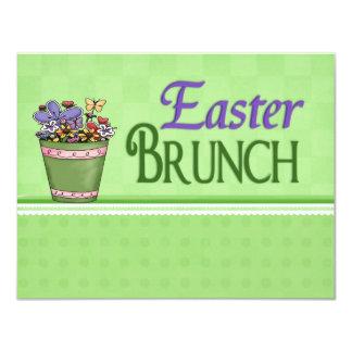 Easter Brunch Spring Flowers Note Size 11 Cm X 14 Cm Invitation Card
