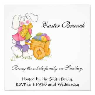 Easter bunch personalized invitation