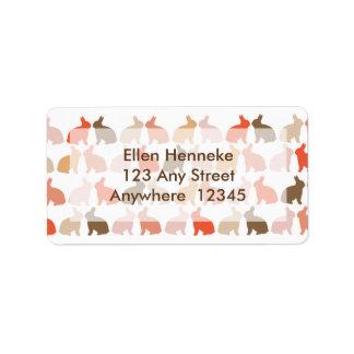 Easter Bunnies Address Label