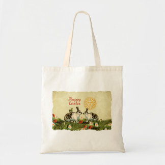Easter Bunnies and Baby Chicks Tote Bag
