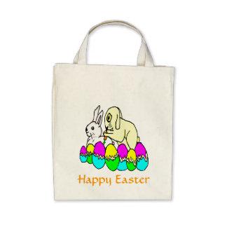 Easter Bunnies Tote Bags