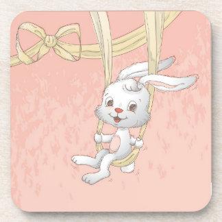 Easter bunnies coaster