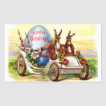 Easter Bunnies in Automobile Rectangular Sticker