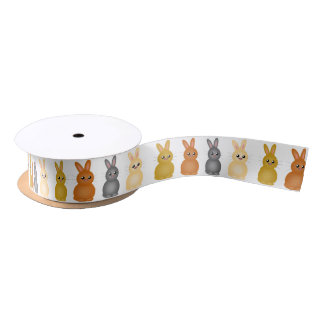 Easter bunnies satin ribbon