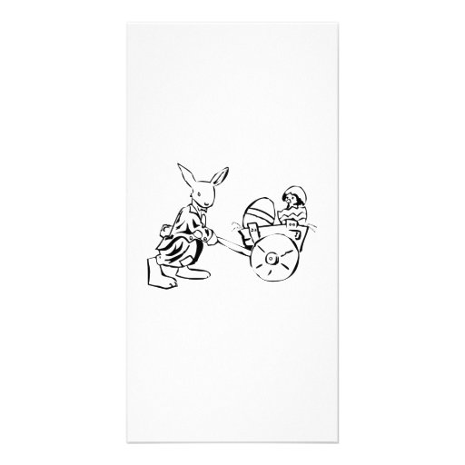 Easter Bunny and Baby Chick Photo Card Template