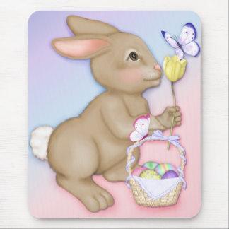 Easter Bunny and Basket Mousepad