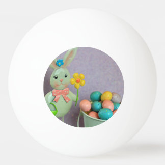 Easter Bunny and candy eggs Ping Pong Ball