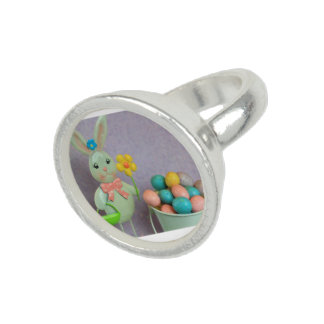 Easter Bunny and candy eggs Ring