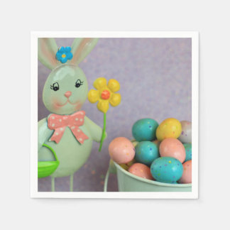 Easter bunny and eggs disposable napkins
