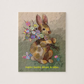 easter bunny and eggs jigsaw puzzle