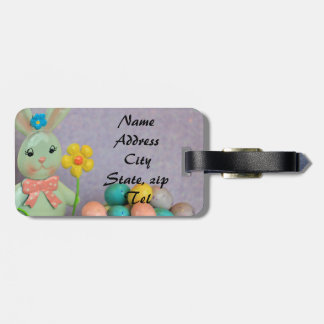 Easter Bunny and Eggs Luggage Tag