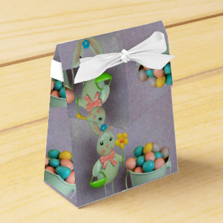 Easter bunny and eggs wedding favour boxes
