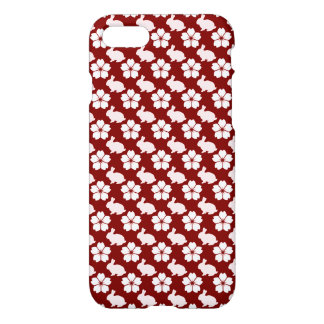 Easter bunny and flower pattern iPhone 8/7 case
