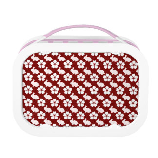 Easter bunny and flower pattern lunchbox