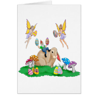 Easter Bunny And Friends Card