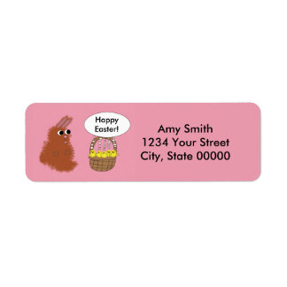 Easter Bunny Baby Chicks Pink Personalize Return