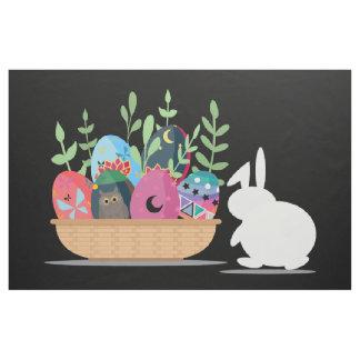 easter bunny basket fabric