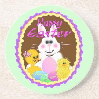 Easter Bunny Beverage Coaster
