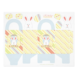 Easter Bunny Box Template 21.5 Cm X 28 Cm Flyer