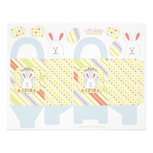 Easter Bunny Box Template Custom Flyer
