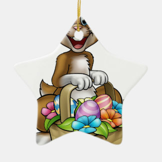 Easter Bunny Cartoon Character Ceramic Star Decoration
