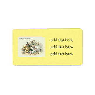 Easter Bunny Chick Daisy Label