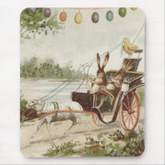 Easter Bunny Chick Egg Lamb Carriage Mouse Pad