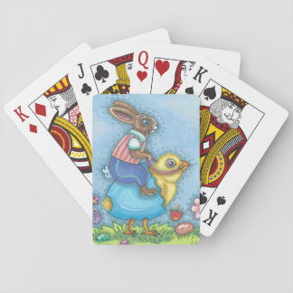 EASTER BUNNY & CHICK PLAYING CARDS Poker