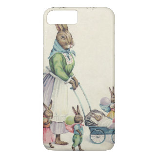 Easter Bunny Children Colored Egg iPhone 7 Plus Case