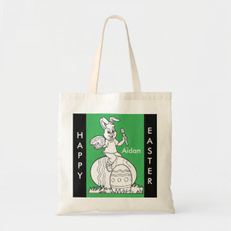 Easter Bunny Color Me Do It Yourself Tote Bag