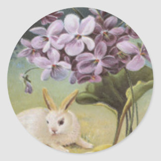 Easter Bunny Colored Painted Egg Crocus Round Sticker
