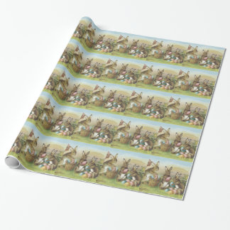 Easter Bunny Colored Painted Egg Field Wrapping Paper