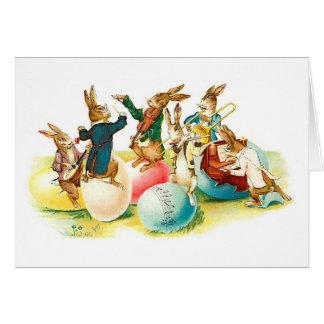 Easter Bunny Concert Vintage Greeting Cards