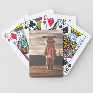Easter Bunny Costume Bicycle Playing Cards