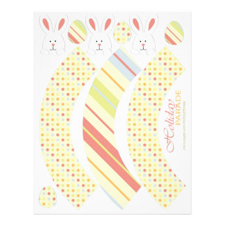 Easter Bunny Cupcake Wrappers Custom Flyer