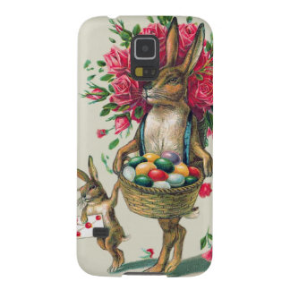 Easter Bunny Dad Child Rose Basket Egg Galaxy S5 Cover