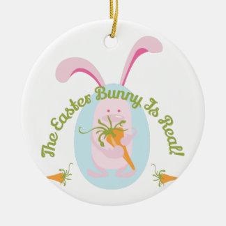 Easter Bunny Round Ceramic Decoration
