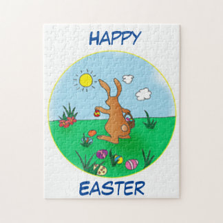 Easter Bunny Delivering Eggs Jigsaw Puzzle