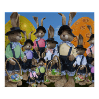 Easter Bunny Display Poster