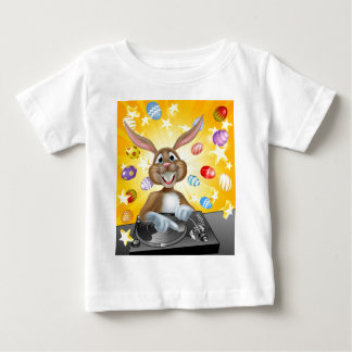 Easter Bunny DJ With Eggs and Stars Baby T-Shirt