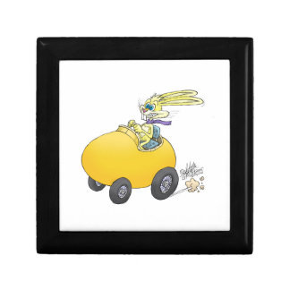 Easter bunny driving an Easter egg!.jpg Small Square Gift Box