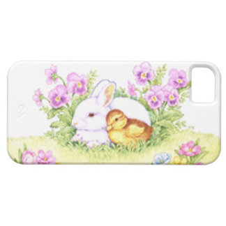 Easter Bunny, Duckling and Flowers Case For The iPhone 5