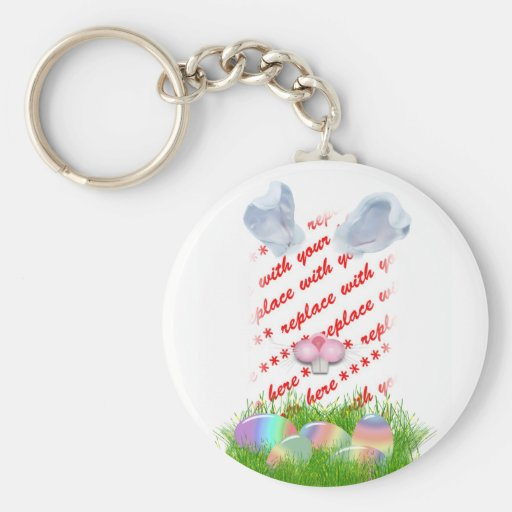 Easter Bunny (Ears & Nose Adjustable) Photo Frame Key Chains