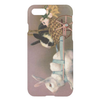 Easter Bunny Easter Basket Flowers Floral Cart iPhone 7 Case