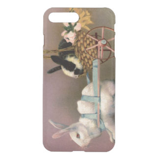 Easter Bunny Easter Basket Flowers Floral Cart iPhone 7 Plus Case