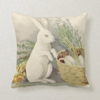 Easter Bunny Egg Basket Daffodil Jonquil Cushion