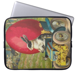 Easter Bunny Egg Car Landscape Laptop Sleeve