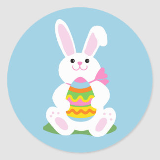 Easter Bunny | Egg Hunt Round Stickers